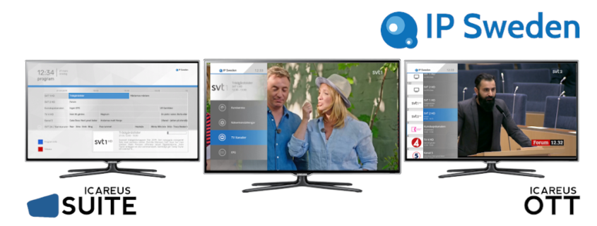 Icareus delivers a complete OTT cloud solution to IP Sweden's new multi-tenant TV service