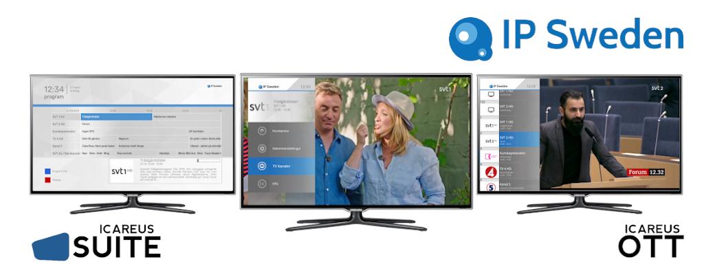 Icareus delivers a complete OTT cloud solution to IP Sweden's new multi-tenant TV service