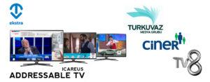 TVEkstra e ICAREUS se unen para ofrecer Publicidad Dirigida en los canales Turkuvaz Media, Ciner Media Group y TV8 en Turquía
