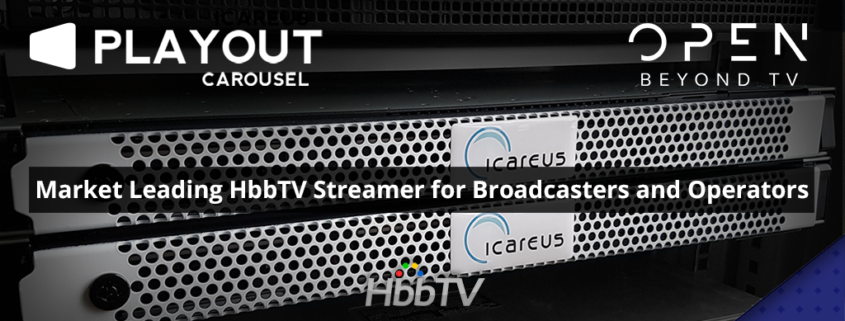 Icareus HbbTV Carousel Streamer Servidores para Open Beyond TV Channel en Grecia